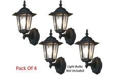 Pack Of 4 Smart Engergy Saving Outdoor Wall Lights - Dusk To Dawn Illumination