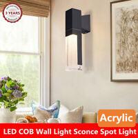 Modern LED COB Wall Light Acrylic Sconce Spot Light Outdoor/Indoor Fixtures 10W