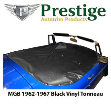 MGB Tonneau Cover Black Vinyl without Headrest Pockets 1962-1967