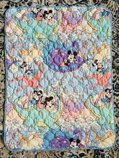 Vintage Disney Crib Small Blanket Mickey Mouse 90's Dinosaur Prehistoric Dundee