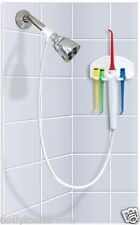 H2Oral Irrigator Easy way to floss in the Shower helps with Gingivitis / Plaque