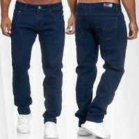 Herren Jeans Regular Fit Hose Denim Stretch Übergröße W34 - W44 Plus Size Locker
