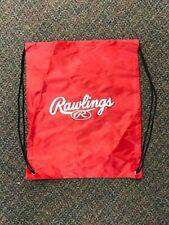 Rawlings Red Baseball Drawstring Gold Glove Heart of Hide Bag Backpack