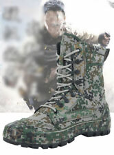 Men's Camo Tactical Army Outdoor Combat Ankle Boots SWAT Hiking Hunting  Shoes