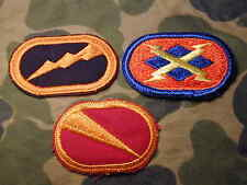 3 airborne parachute ovals cloth badge patch  Jump Wings background parachutist