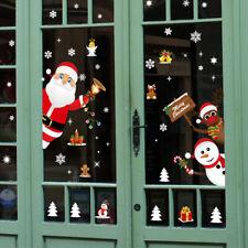 Santa Sticker Snowflakes Christmas Window Clings Window Stickers DIY Decor Cute