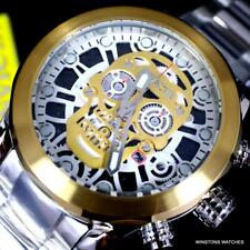 Invicta Corduba Skull Collection Chronograph 50mm Gold Two Tone Steel Watch New