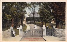 ROANOKE VIRGINIA~ENTRANCE TO ELMWOOD PARK~OCTOCHROME POSTCARD 19