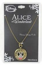 New Disney Alice In Wonderland White Rabbit Clock Pendant Necklace Chain