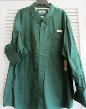 PADRE ISLAND FISHING SHIRT L/S PINENEEDLE GREEN 3XL  (8)