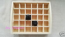 Essential Oil Wood Box 10ml 30 Grid Box Holds Aromatherapy Storage Display Case