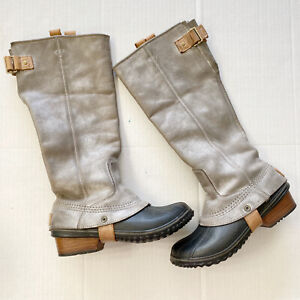 SOREL SLIMPACK TALL EQUESTRIAN Riding/Rain/Snow Boots 7 Waterproof RARE PRETTY