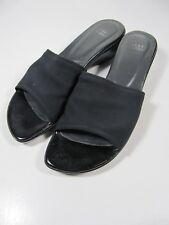 Stuart Weitzman Womens Shoes Size 7.5AA Black Wedge Clog Slip Ons