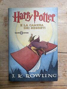 Rowling HARRY POTTER E LA CAMERA DEI SEGRETI Salani 2001 Prima Edizione