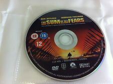 The Sum Of All Fears - DVD R2- 2003 Ben Affleck Morgan Freeman DISC ONLY Sleeved