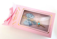 Sailor Moon - Ribbon Charm Clip Keychain - MERCURY Transformation Pen Bow