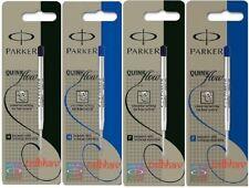 Parker Quink Flow Ball Point Pen BP Refill Refills Fine Medium Blue Black Nib