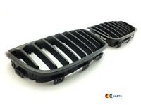 NEW GENUINE BMW 1 M PERFORMANCE FRONT BUMPER RIGHT LEFT KIDNEY GRILL BLACK