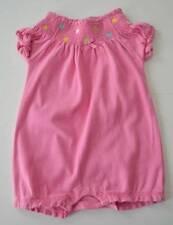 Baby Girl GYMBOREE Sz 6 12m Pink Polka Dot Smocked s/s One Piece Romper