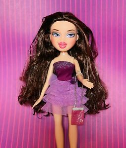 Bratz Hollywood Style Phoebe Doll Purple Star Eyes With Outfit Clothing Purse