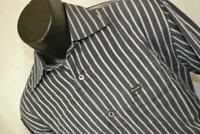 19920 Mens Faconnable Club Striped Long Sleeve Button Up Dress Shirt Sz Medium
