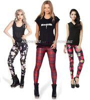 Women Girls Tie Dye Fashion Print Stretch Slim Fit Milk Silk Leggings UK Seller