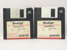 Hunter F10-P11 WinAlign Alignment Floppy Disk Software P-74
