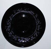 """Hazel Atlas Depression Glass Black Cloverleaf 5 1/2"""" Saucer Plate 9 Available !"""