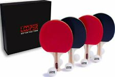 Looper Next Gen Table Tennis Ping Pong Set 4 Rackets Balls Storage Case Sealed