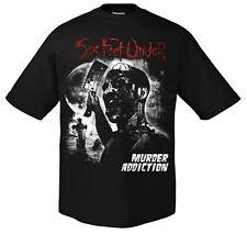 SIX FEET UNDER - Murder Addiction - T-Shirt - Größe Size L - Neu