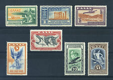 Greece 1933. Air. Company Issue. Complete set of 7. Mint. VLH. Og.