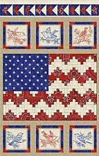 Fabric Henry Glass American Beauty Panel Patriotic Flag Beth Logan