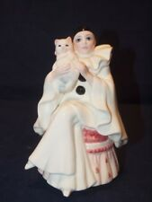 Pierrot Love Vintage Hand Painted Porcelain Music Box by Schmid