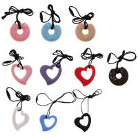 Baby Silicone Teething Nursing Breastfeeding Necklace Chew Teether Jewelry