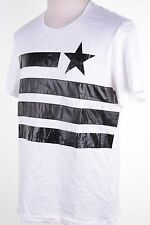 INC International Concepts White Crewneck Pure T-Shirt Short Sleeve Men's L