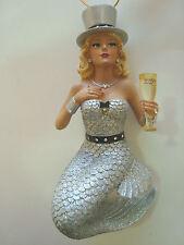 December Diamonds Miss Champagne  Mermaid Happy New Year Ornament 55-90763