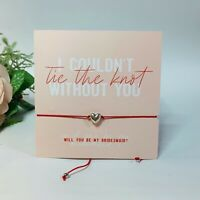 Will you be my bridesmaid?  Tie the knot  Bridesmaid gift