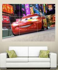 Disney CARS LIGHTNING MCQUEEN Gigante A3 Sección Pared Arte Cartel
