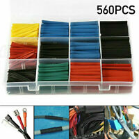 560Pcs Assorted Electrical Cable Heat Shrink Tube Tubing Wire Wrap Sleeve Kit