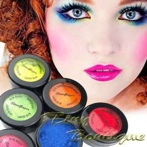 Stargazer Neon Loose Powder Eye Dust Eyeshadow Fluorescent Bright Colour UV Glow