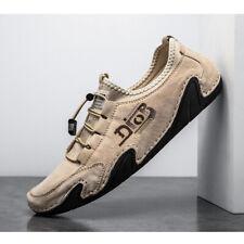 Mens Leather Smart Slip On Loafers Moccasins Designer Driving Boat Deck Shoes