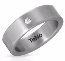 TENO MADE GERMANY RING SUPER CLEAN DIAMOND HYPOALLERGENIC STAINLESS STEEL. NEW
