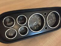 Ford Escort mk1 mk2  Chrome Dial Surrounds Gauge Rings Polished Alloy x8