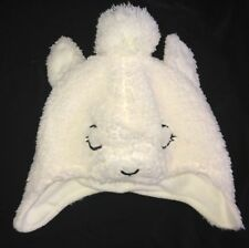 715eb07fa boys girls white FURRY ANIMAL FACE WINTER HAT by TARGET size TODDLER cute  clean