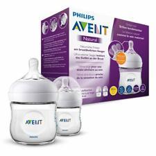 2 Bottles Philips Avent Natural Baby Bottle for Newborn Babies Flow Teat 125ml