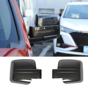 Carbon Fiber ABS Rearview Mirror Caps Decor Cover Fit For Jeep Patriot 2011-2016