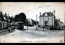 VAUX-sous-LAON (02) PASSAGE du TRAMWAY animé début 1900