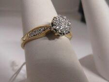 18J 9CT Gold 0.20CT Diamond Ladies Ring