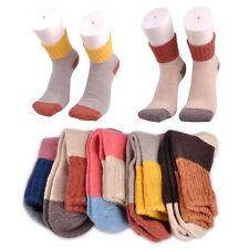 5 Pairs Wool Cashmere Socks Warm Women Girl Thick Winter Soft Casual Multicolor