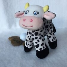 Eden Toys Black White Spotted Cow Jumped Over the Moon Plush Stuffed Soft Lovey